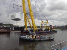2,1 Megawatt generator opgeleverd en gaat op transport naar Rederij